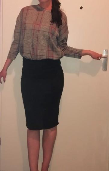 Shirt rok bewerkt